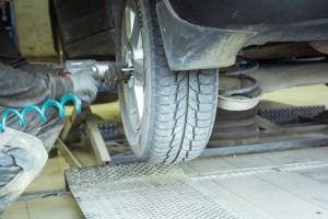 Výměna pneumatik.